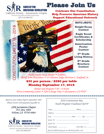 Constitution Day Fundraiser